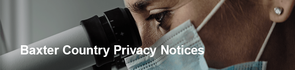 Baxter Privacy Notices