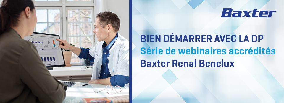 Bien démarrer avec la DP - Série de webinaires accrédités - Baxter Renal Benelux